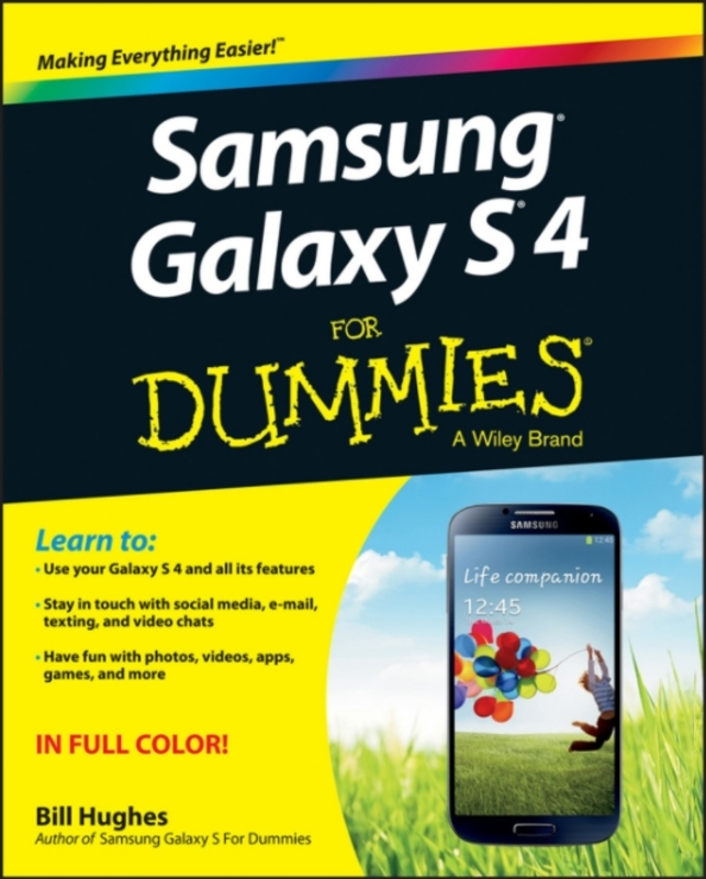Jacket image for the title 'Samsung Galaxy S4 for dummies