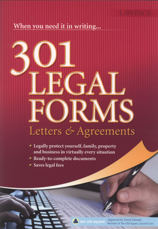 Jacket image for the title '301 legal forms, letters & agreements.