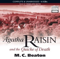 Jacket image for the title 'Agatha Raisin and the quiche of death [Read by Penelope Keith]