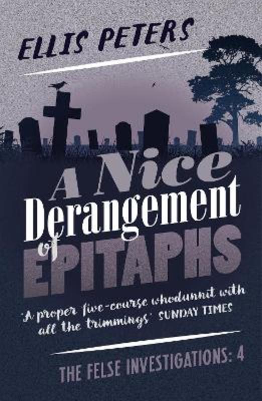 Jacket image for the title 'A nice derangement of epitaphs'