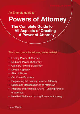Jacket image for the title 'Emerald Guide To Powers Of Attorney'