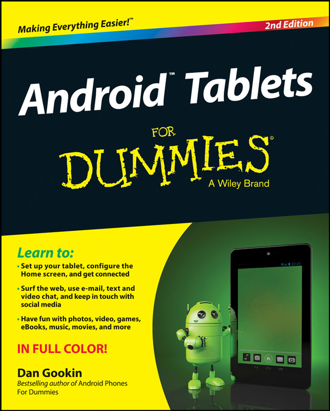Jacket image for the title 'Android tablets for dummies'