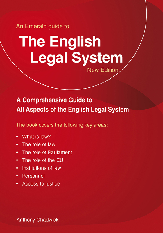 Jacket image for the title 'The English legal system