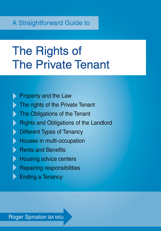 Jacket image for the title 'A straightforward guide to the rights of the private tenant
