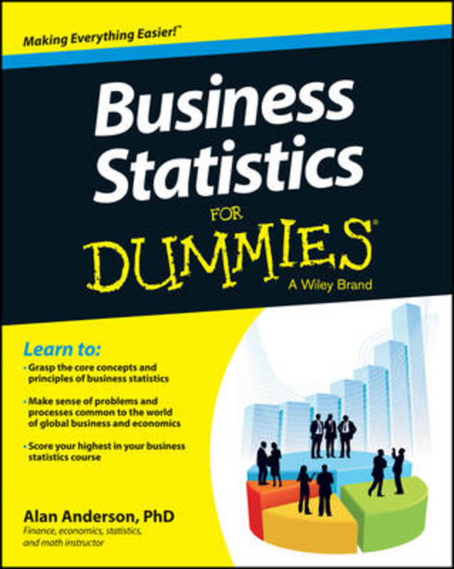 Jacket image for the title 'Business Statistics For Dummies