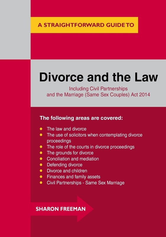 Jacket image for the title 'A straightforward guide to divorce and the law'