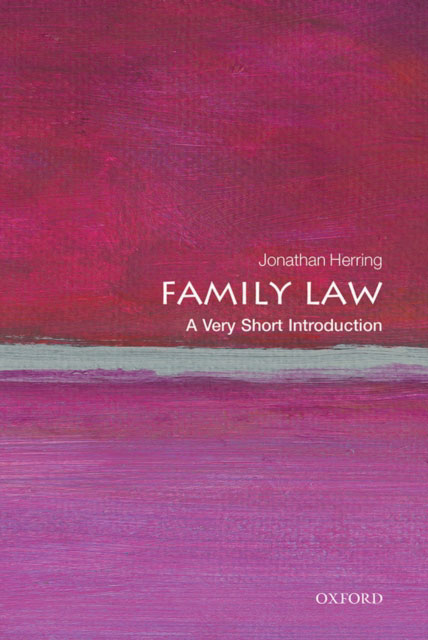 Jacket image for the title 'Family Law: A Very Short Introduction