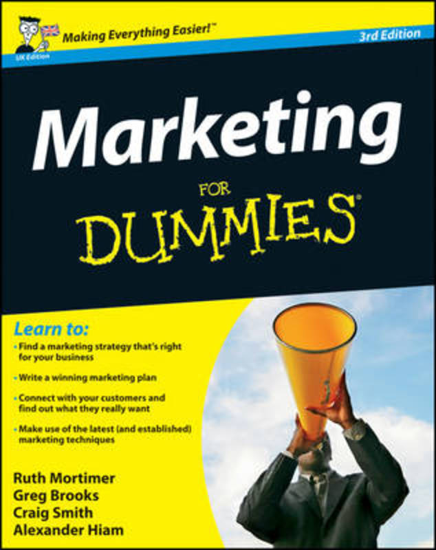 Jacket image for the title 'Marketing for dummies