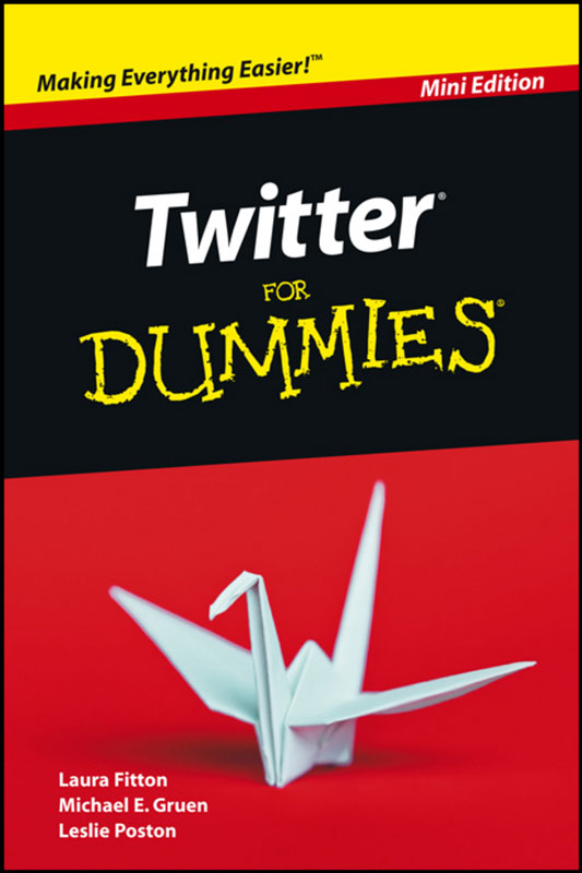 Jacket image for the title 'Twitter For Dummies, Mini Edition