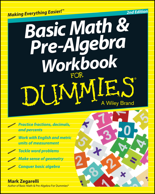 Jacket image for the title 'Basic Math and Pre-Algebra Workbook For Dummies