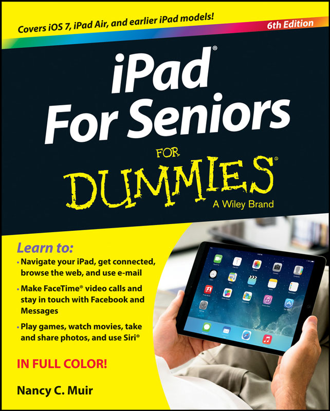 Jacket image for the title 'iPad  for seniors for dummies