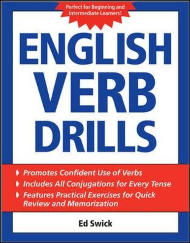 Jacket image for the title 'English verb drills