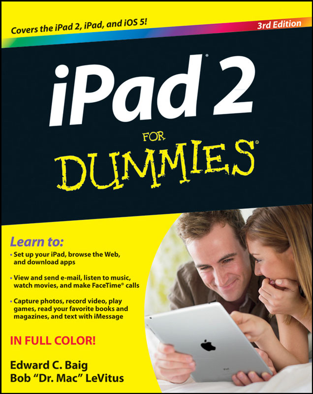 Jacket image for the title 'iPad 2 for dummies