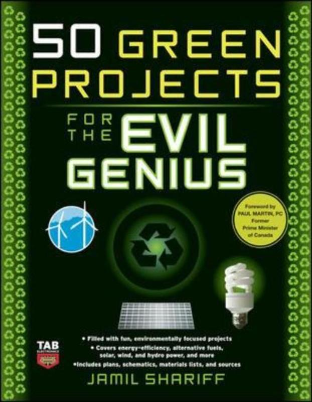 Jacket image for the title '50 green projects for the evil genius'