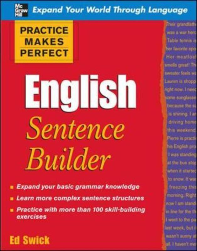 Jacket image for the title 'English sentence builder